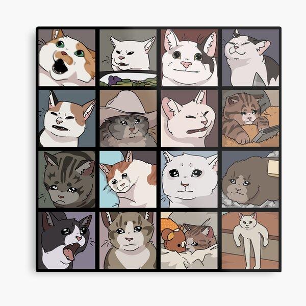 Meme Cats 2.0 Metal Print