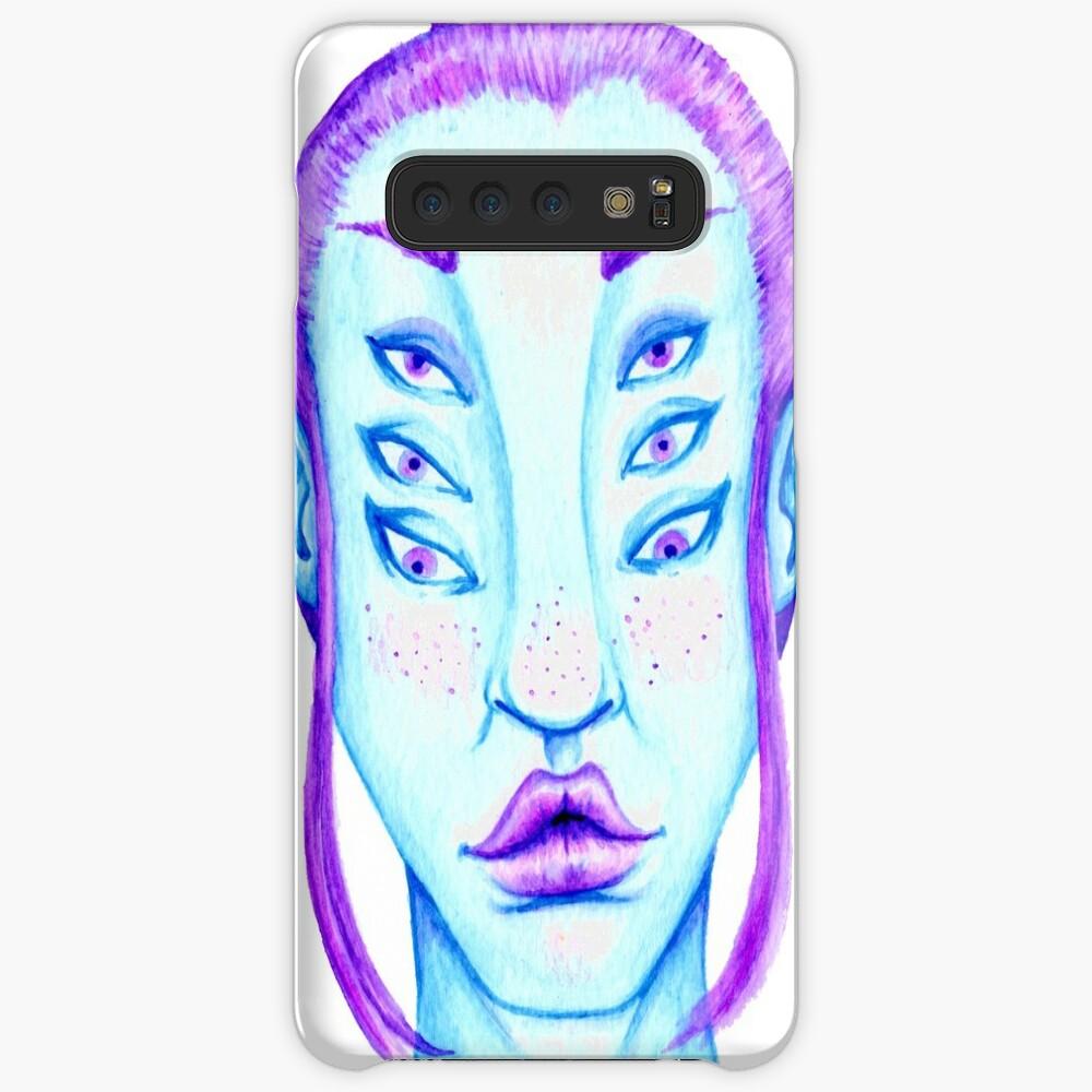 Purple Hair, Blue Skin Samsung Galaxy Snap Case