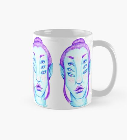 Purple Hair, Blue Skin Mug
