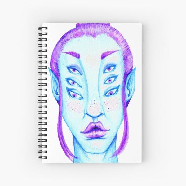 Purple Hair, Blue Skin Spiral Notebook