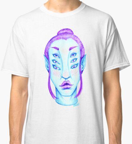 Purple Hair, Blue Skin Classic T-Shirt