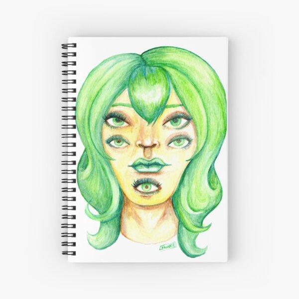 Green Hair, Golden Skin Spiral Notebook