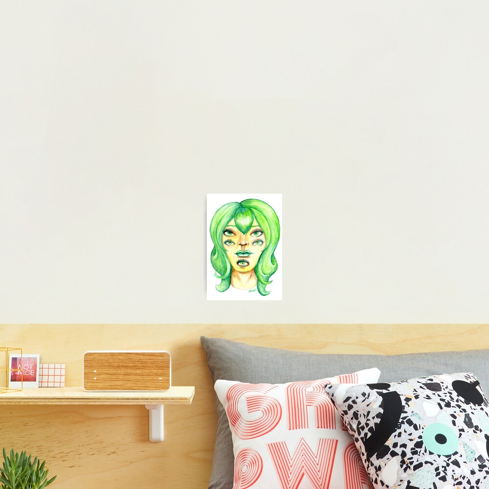 Green Hair, Golden Skin Photographic Print