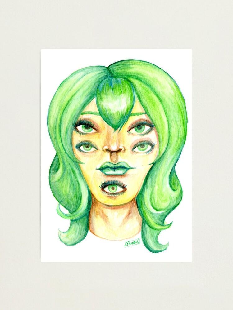 Alternate view of Green Hair, Golden Skin Photographic Print