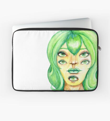 Green Hair, Golden Skin Laptop Sleeve