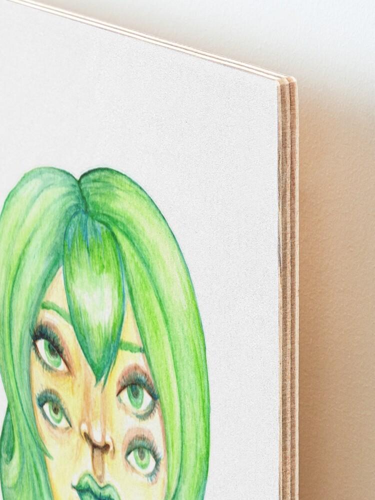 Alternate view of Green Hair, Golden Skin Mounted Print