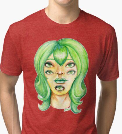 Green Hair, Golden Skin Tri-blend T-Shirt