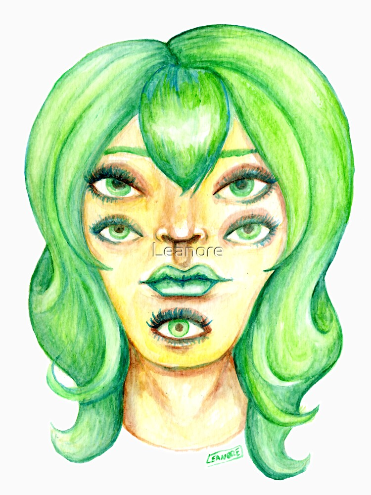 Green Hair, Golden Skin by Leanore