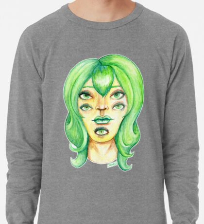 Green Hair, Golden Skin Lightweight Sweatshirt