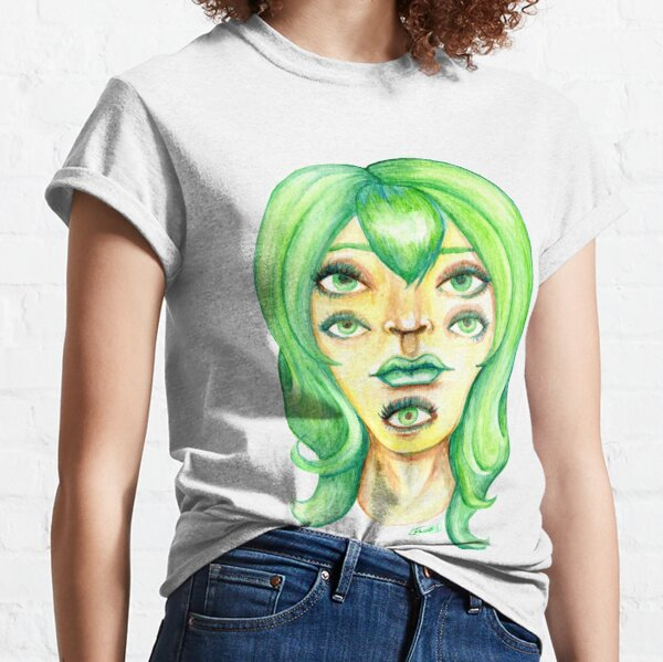 Green Hair, Golden Skin Classic T-Shirt