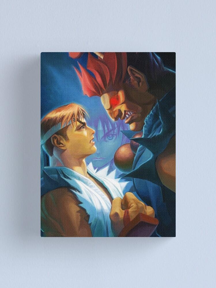 Street Fighter Alpha 2 Ryu Vs Akuma Canvas Print