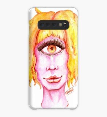 Golden Hair, Pink Skin Case/Skin for Samsung Galaxy