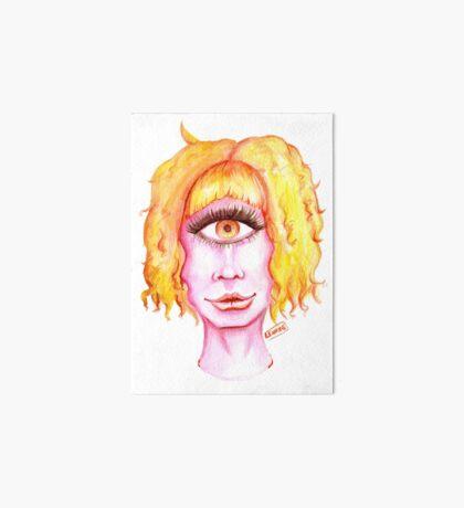 Golden Hair, Pink Skin Art Board Print