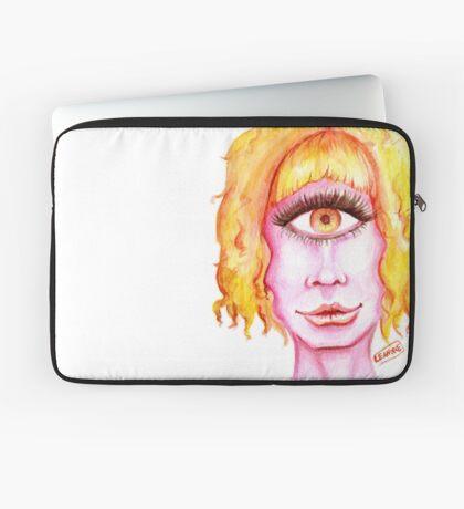 Golden Hair, Pink Skin Laptop Sleeve