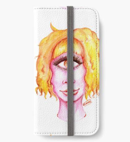 Golden Hair, Pink Skin iPhone Wallet