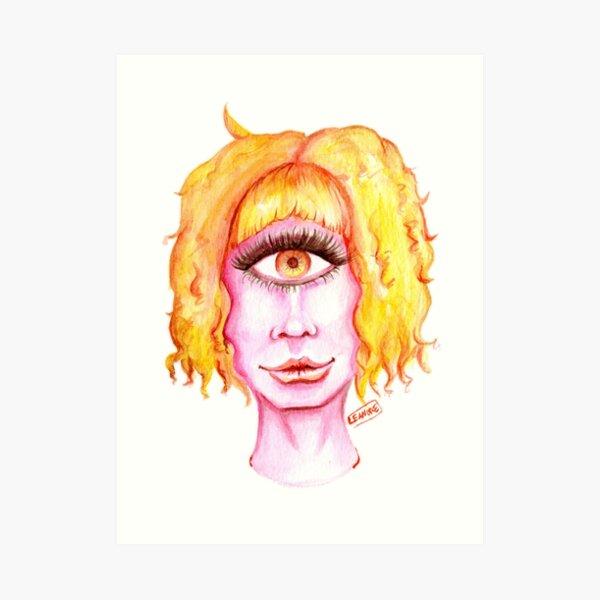 Golden Hair, Pink Skin Art Print