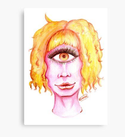 Golden Hair, Pink Skin Metal Print