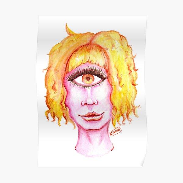 Golden Hair, Pink Skin Poster