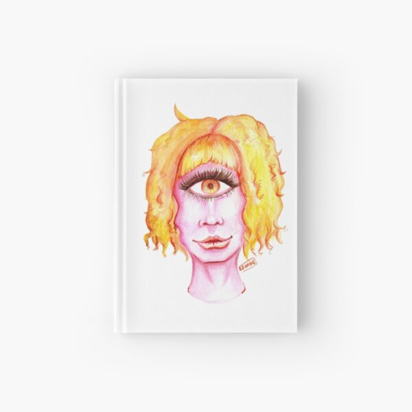 Golden Hair, Pink Skin Hardcover Journal