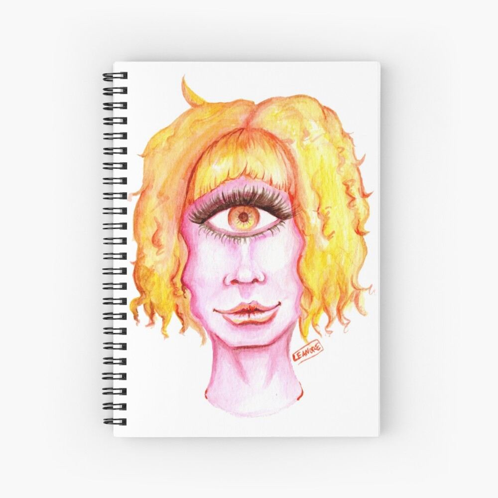 Golden Hair, Pink Skin Spiral Notebook
