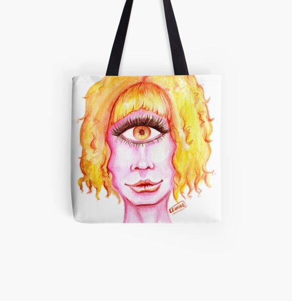 Golden Hair, Pink Skin All Over Print Tote Bag