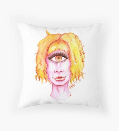 Golden Hair, Pink Skin Floor Pillow