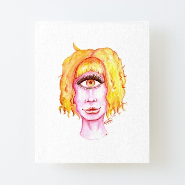 Golden Hair, Pink Skin Canvas Mounted Print