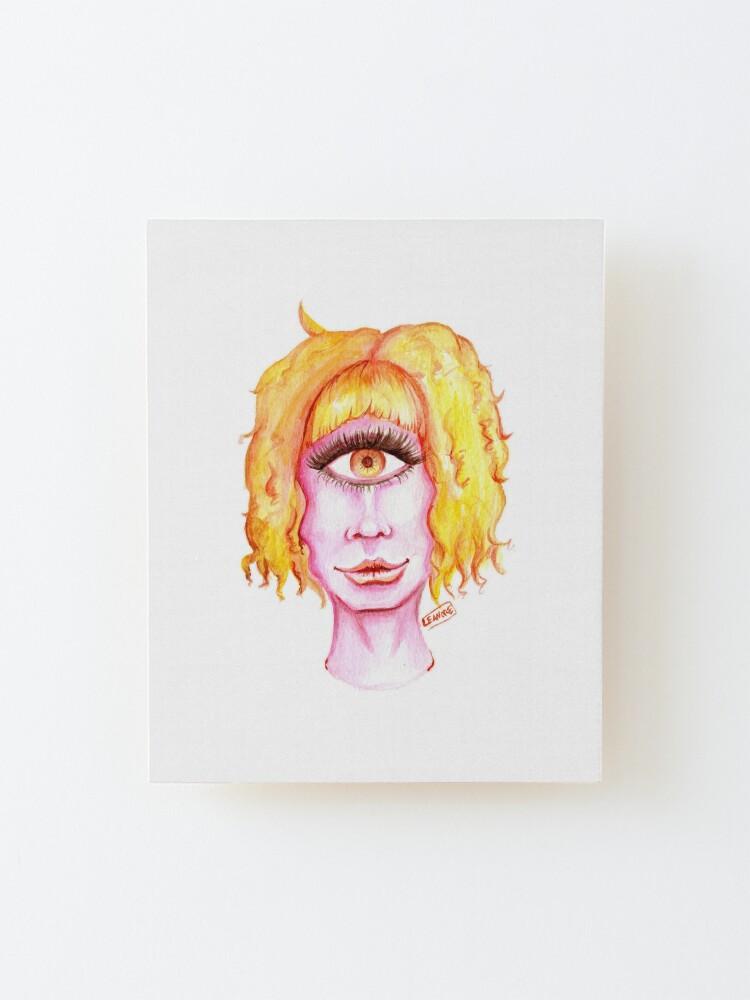 Alternate view of Golden Hair, Pink Skin Mounted Print