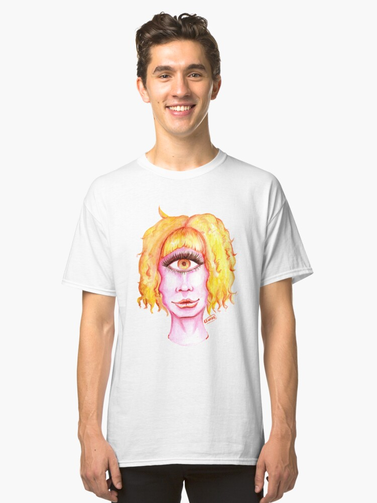 Alternate view of Golden Hair, Pink Skin Classic T-Shirt