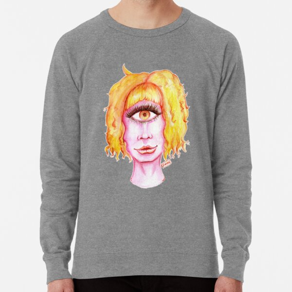 Golden Hair, Pink Skin Lightweight Sweatshirt
