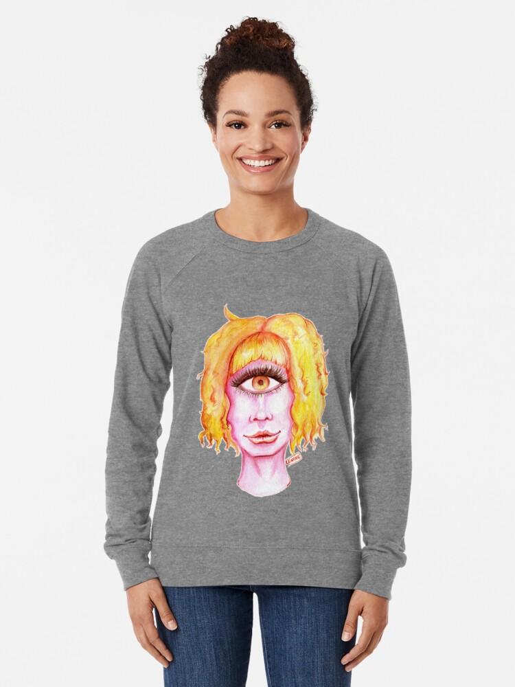 Alternate view of Golden Hair, Pink Skin Lightweight Sweatshirt