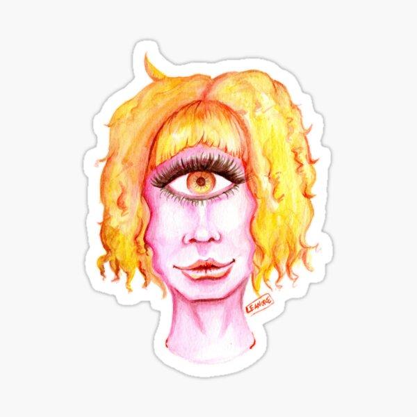 Golden Hair, Pink Skin Sticker