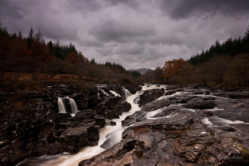 Eas Urchaidh - The Falls Of Orchy by Brian Kerr
