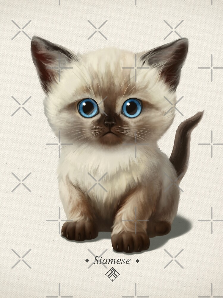 Cataclysm- Siamese Kitten Classic by ikerpazstudio