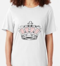 Crown - Pink Slim Fit T-Shirt