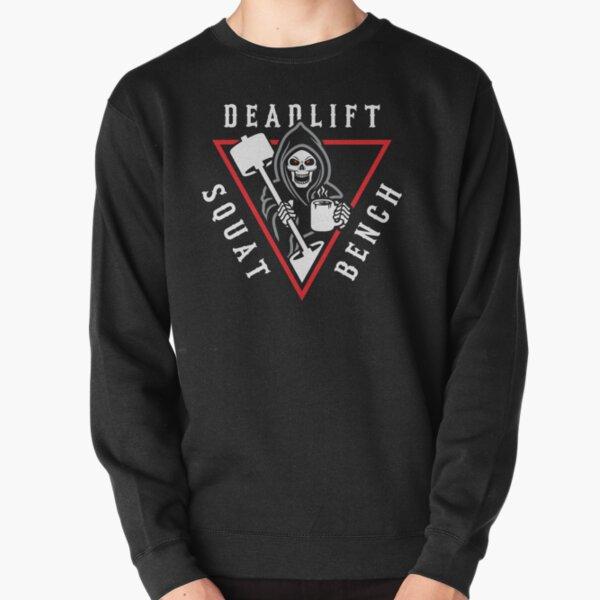 Squat Bench Deadlift Grim Reaper Pullover Sweatshirt