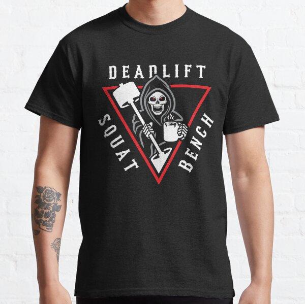 Banco en cuclillas Deadlift Grim Reaper Camiseta clásica