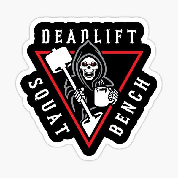 Squat Bench Deadlift Grim Reaper Sticker