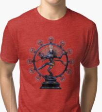 Shiva Nataraj, Lord of Dance (an actual factual fractal)  Tri-blend T-Shirt