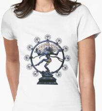 Shiva Nataraj, Lord of Dance (an actual factual fractal)  Womens Fitted T-Shirt