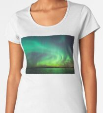 Northern lights over lake in Finland Premium Scoop T-Shirt