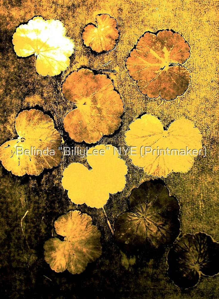 "Novembers Garden 5 Yellow - Monoprint by Belinda ""BillyLee"" NYE (Printmaker)"