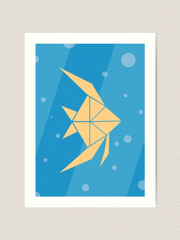 Origami angelfish tutorial   How to make an easy paper angelfish ...   1000x750