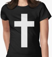 Cross (Faithful to God) [dark] Womens Fitted T-Shirt