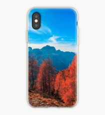 Cloudy autumn day in the italian alps iPhone Case
