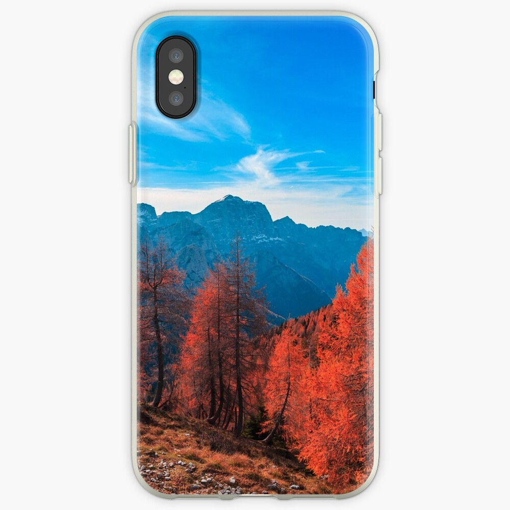 Cloudy autumn day in the italian alps iPhone Case & Cover