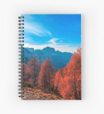 Cloudy autumn day in the italian alps Spiral Notebook