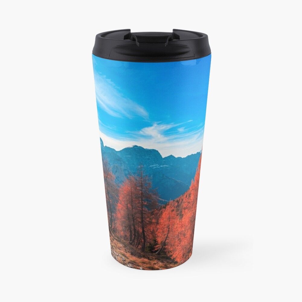 Cloudy autumn day in the italian alps Travel Mug