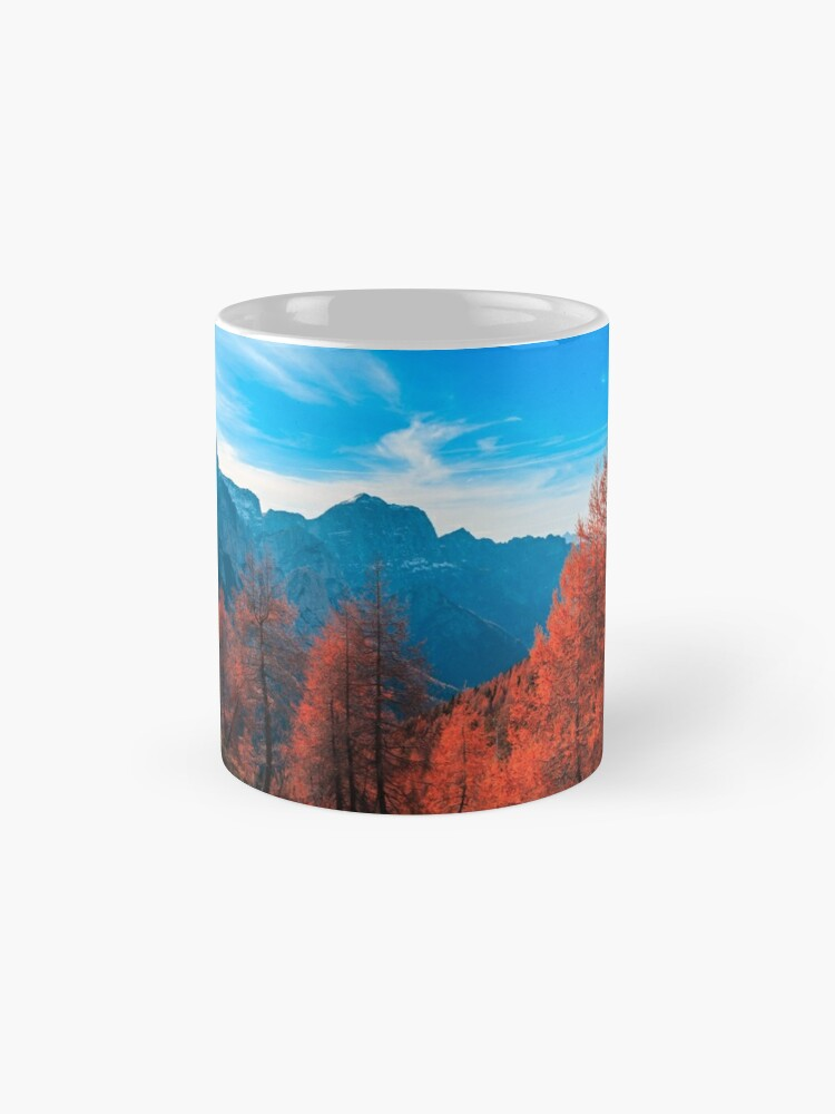 Alternate view of Cloudy autumn day in the italian alps Mug