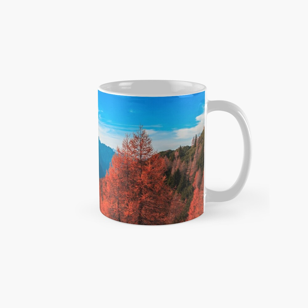 Cloudy autumn day in the italian alps Mug